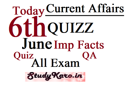 Today Current Affairs 2020-6 June Current Affairs facts