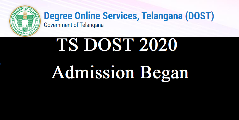 Degree Online Services Telangana TS DOST 2020 Admission began